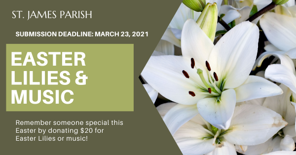 Easter Lilies and Music 2021