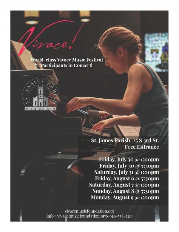 Vivace Music Festival at St. James Parish