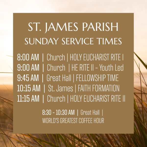 Fall 2019 Sunday Morning Service Schedule