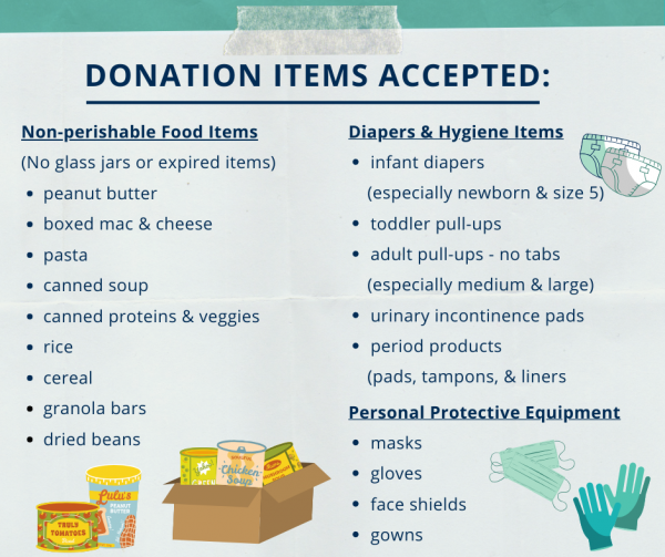 Donate items for COVID-19 relief!